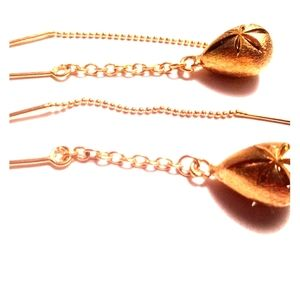 Brazilian Gold Plated Earrings Drop Dangles